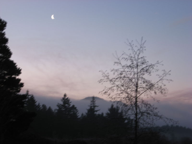 Sunrise with moon