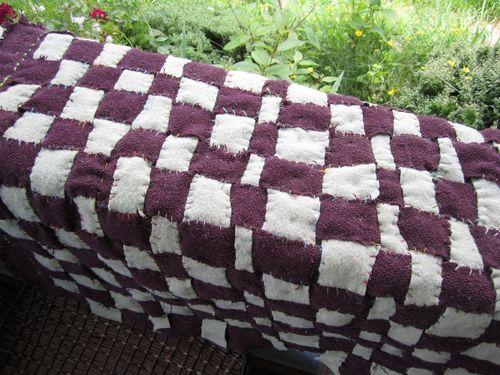 Purple checkerboard