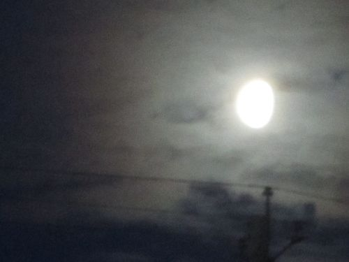 Moon over wire