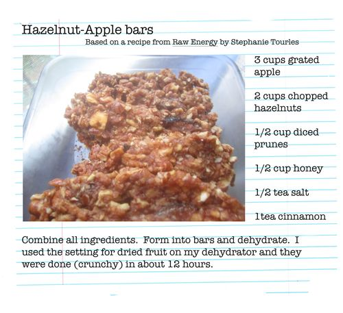 Hazelnut bars