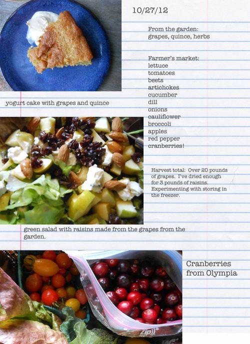 Feild notes food 10 27