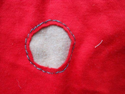 Knit hole