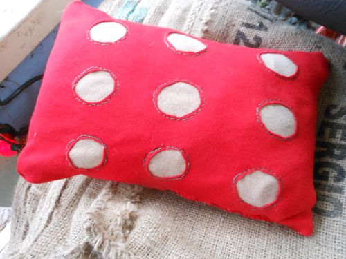 Pillow with holes