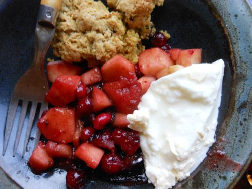 Scone and fruit