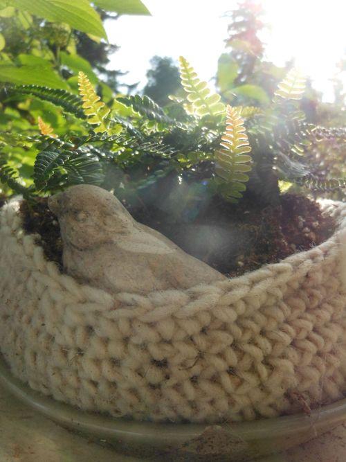 Bird in basket
