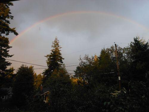 Rainbow just before dusk