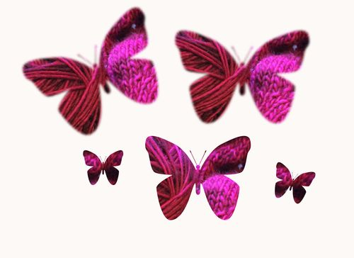 Knit butterflies