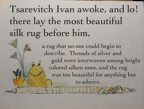 Frog and rug
