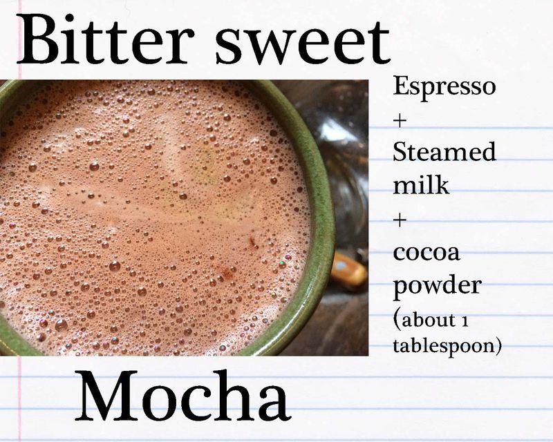 Bitter-sweet mocha