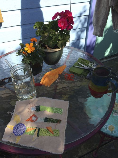 Stitching in the sunshine