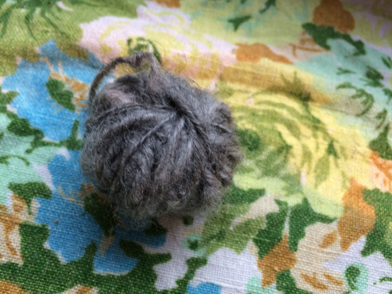 More gray yarn