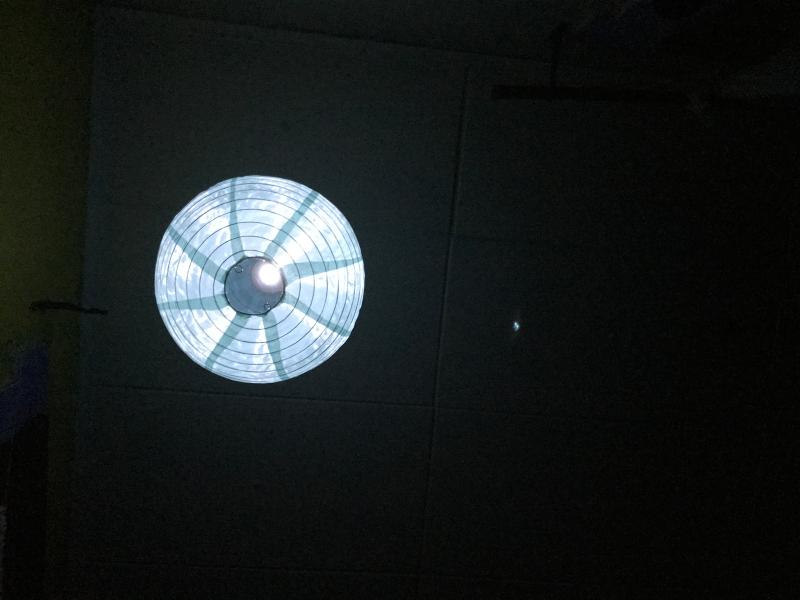 solar lantern in the dark