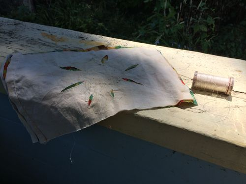 Stitching on the porch