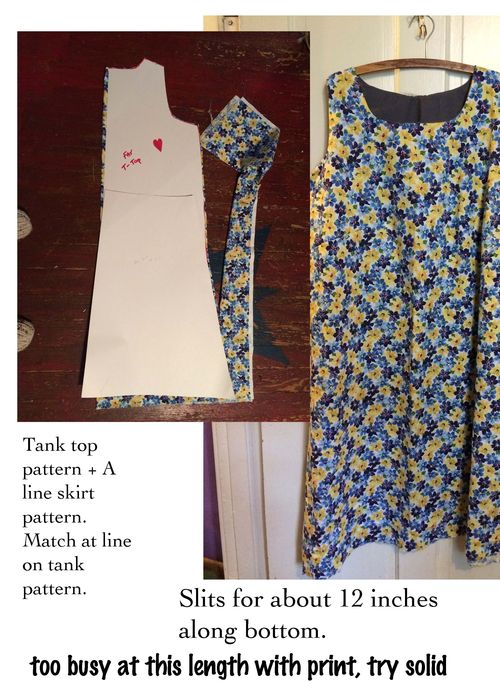 Tank dress project card