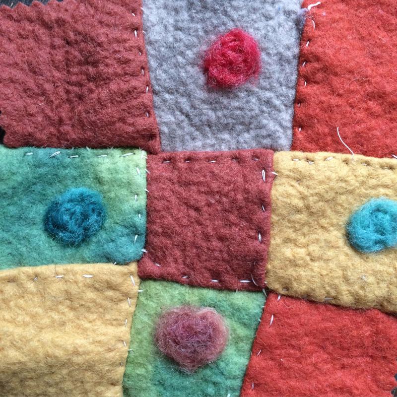 Stitching and felting