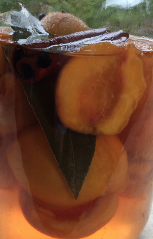 Pickling peaches