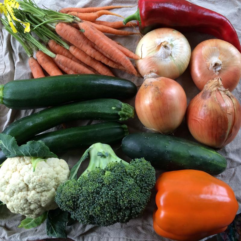 15 dollars of vegetables