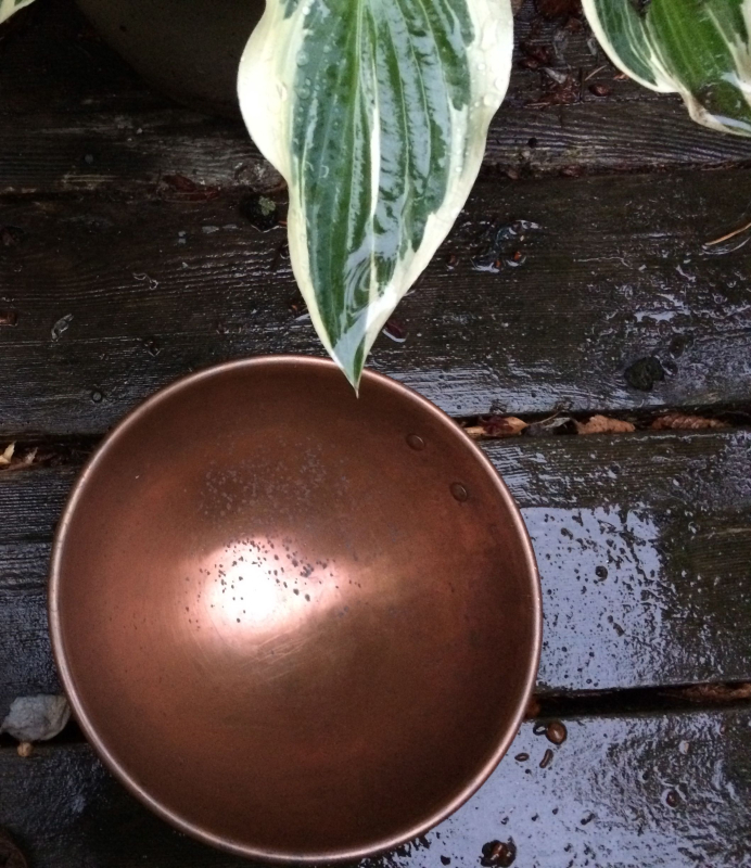 Copper bowl to fill