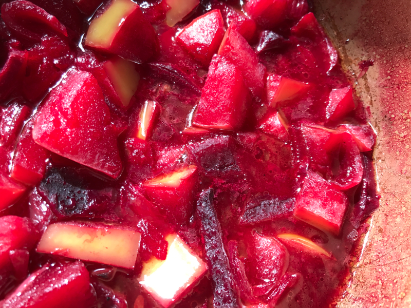 beets and apples