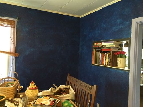Deep blue walls