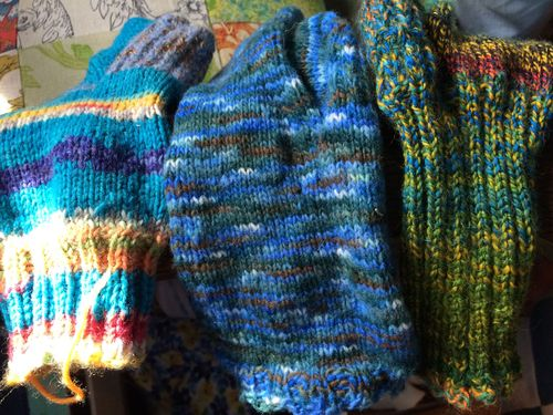3 finished socks