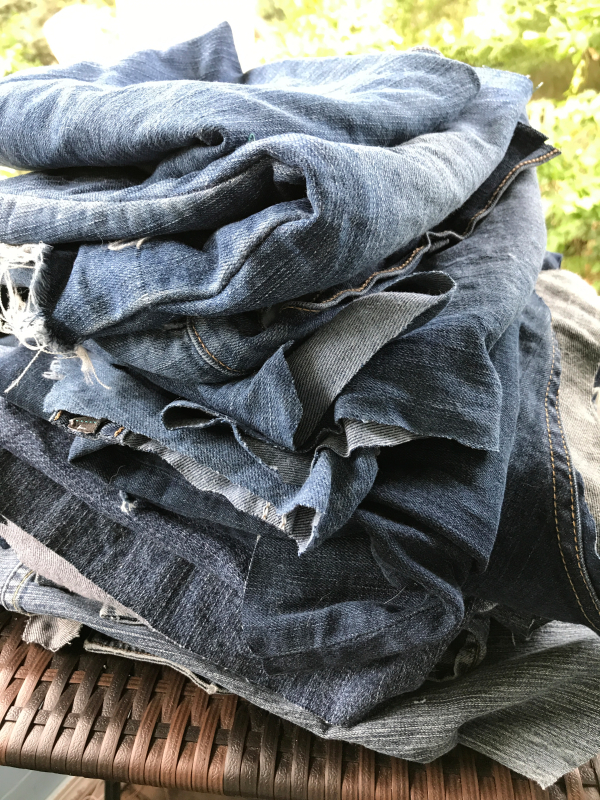 salvaged denim