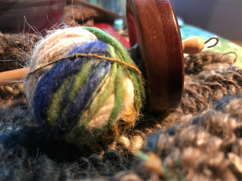 yarn and spindle