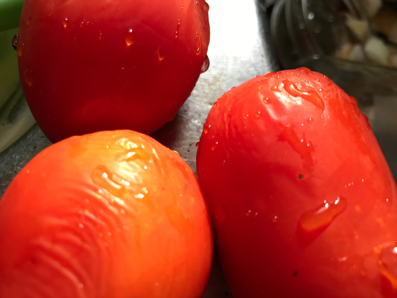 Frozen tomatoes