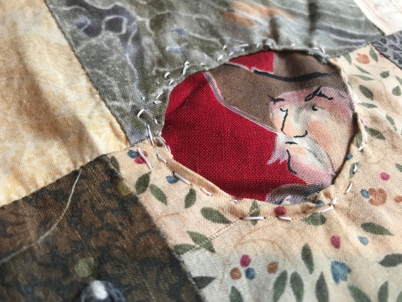 mending the don't fence me in quilt