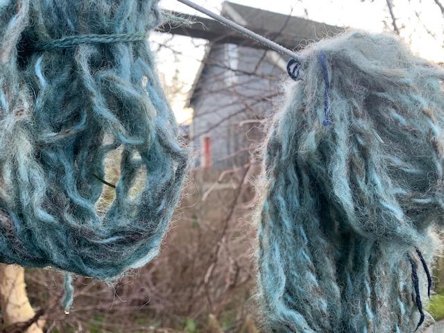 Dyeing blue
