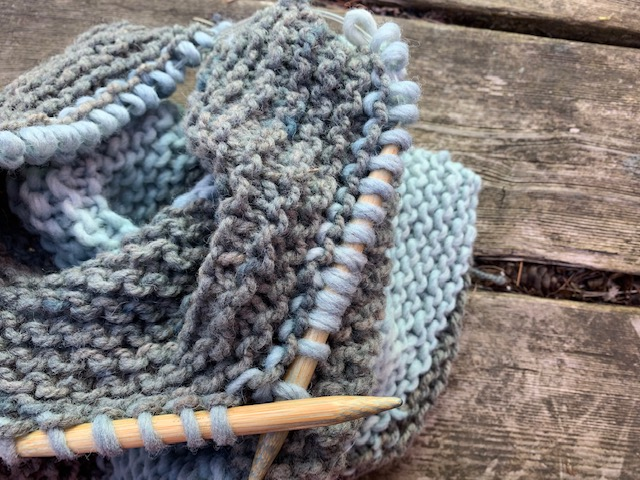Knit on the porch