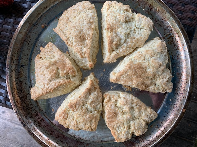 Scones on a pizza pan